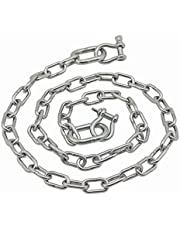 """Extreme Max 36.6575 BoatTector Stainless Steel Anchor Chain, 3/16"""" x 4'"""