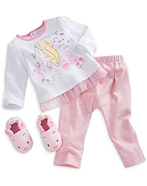 Winnie the Pooh Slipper Set for Baby - Pink