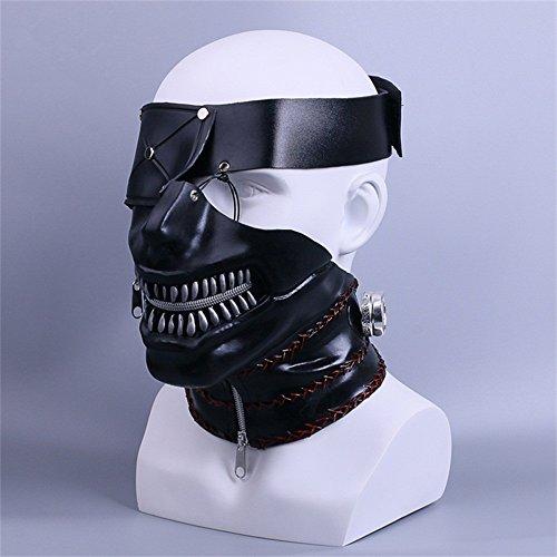 nihiug La Película Tokyo Ghoul Cos One-Eyed Jin Muyan Máscara Máscara Accesorios para La Cabeza,Black-OneSize: Amazon.es: Hogar