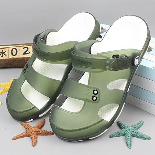 Xing Lin Sandalias De Mujer Sandalias De Verano Para Los Hombres Del Fondo Grueso Anti Resbaladizo Baotou Sandalias, Zapatillas, Zapatillas Y Zapatillas Emerald green