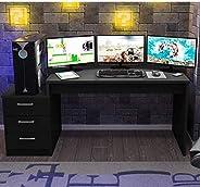 Mesa para Computador Desk Gamer DRX 6000 Espresso Móveis Preto