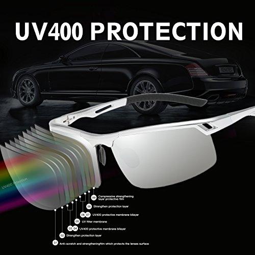 polarizados sol del los 8550 divierten de Pleateado Duco de conductor vidrios de hombres deportes Espejo los gafas las xzwZSq0B