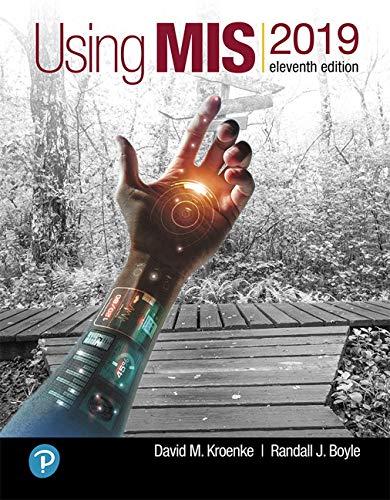 Using MIS (11th Edition)