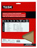 Task Tools PA15220 9-Inch by 11-Inch Premium Aluminum Oxide Sandpaper, 220 Grit, 5-Pack