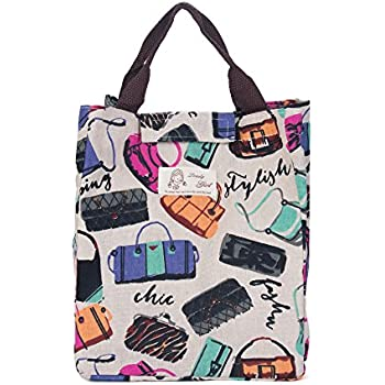 UINSTONE LUNCH BAG, WELL INSULATED & WATER-SLIDE COATING HAND BAG with Hook and Loop Strip