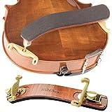 Kun Bravo Collapsible 4/4 Violin Shoulder Rest - Hardwood and Brass