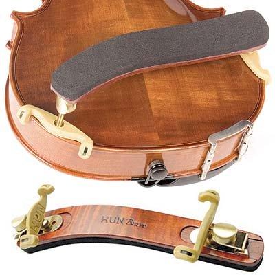 Kun Bravo Collapsible 4/4 Violin Shoulder Rest - Hardwood and Brass by Kun