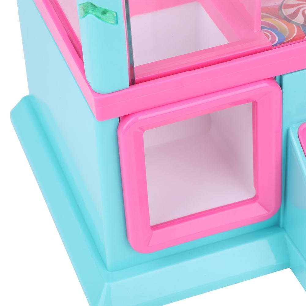 Zerodis Coin Claw Machine Portable Electronic Dolls with USD Light for Children Over 3 Years (Pink) by Zerodis (Image #3)