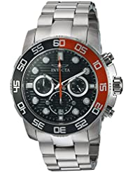 Invicta Mens Pro Diver Quartz Stainless Steel Casual Watch, Color:Silver-Toned (Model: 22230)