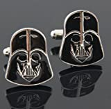Gentleman Men's Jewelry Wedding Party Stainless Steel Shirt Cufflinks Cuff Link (Star wars darth vader) by Youngstore