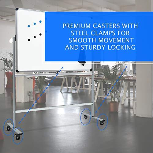 Amazon.com: Pizarra magnética móvil con soporte, 50 pulgadas ...