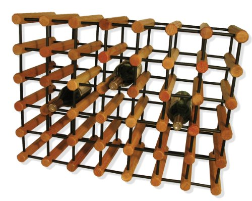 J.K. Adams Ash Wood 40-Bottle Wine Rack, Natural with Black Pegs (Racks Wood Wine Kitchen)