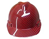 Izzo Graphics Red Carbon Fiber MSA V-Guard cap Hard Hat