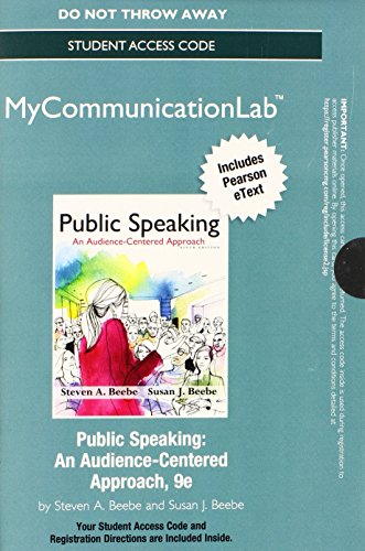NEW MyCommunicationLab- Pearson eText -- Standalone Access Card -- for Public Speaking: An Audience-Centered Approach (9