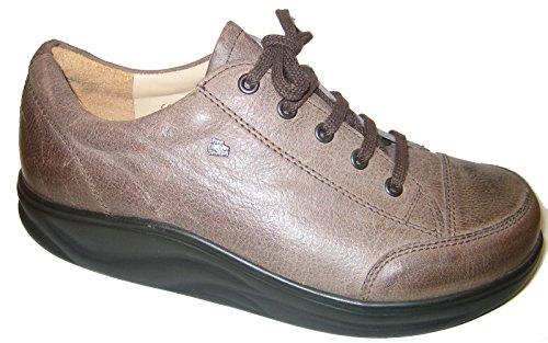 Piel Para de Mujer Lisa Cordones Marrón Zapatos Finnamic Multicolor de PqYIIA