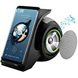 Fast Wireless Charger with Bluetooth Speaker Wireless Charger Stand Compatible with iPhone Xs, XS Max, XR, X, 8, 8Plus, Samsung Galaxy S10+, S10, S9+, S9, Note 8, S8, S8 Plus, Note 7 and More (Black)