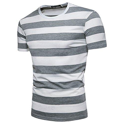 194a05c465f Envio gratis UUAISSO Hombre Striped Manga Corta Camisas Casual Moda Slim  Fit Shirt