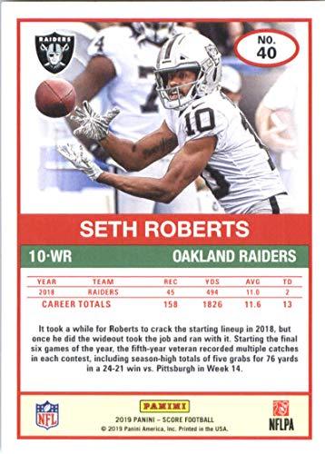 on sale c44e8 b6dee Amazon.com: 2019 Score Football #40 Seth Roberts Oakland ...