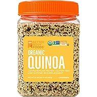 Organic Quinoa, Vegan, Non-GMO Grain with Protein, Fiber, and Iron (1.5 lbs.)