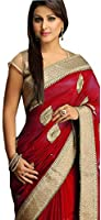 Pramukh Fashion Women's Georgette Saree (Pfs-131,Multicolor,Free Size)