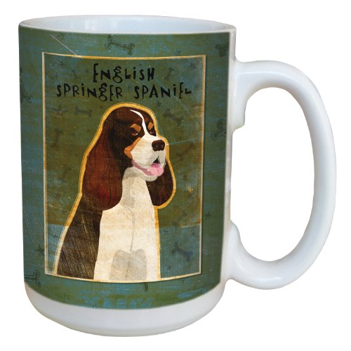 Tree-Free Greetings sg44013 Tri-Color English Springer Spaniel by John W. Golden Ceramic Mug with Full-Sized Handle, 15-Ounce