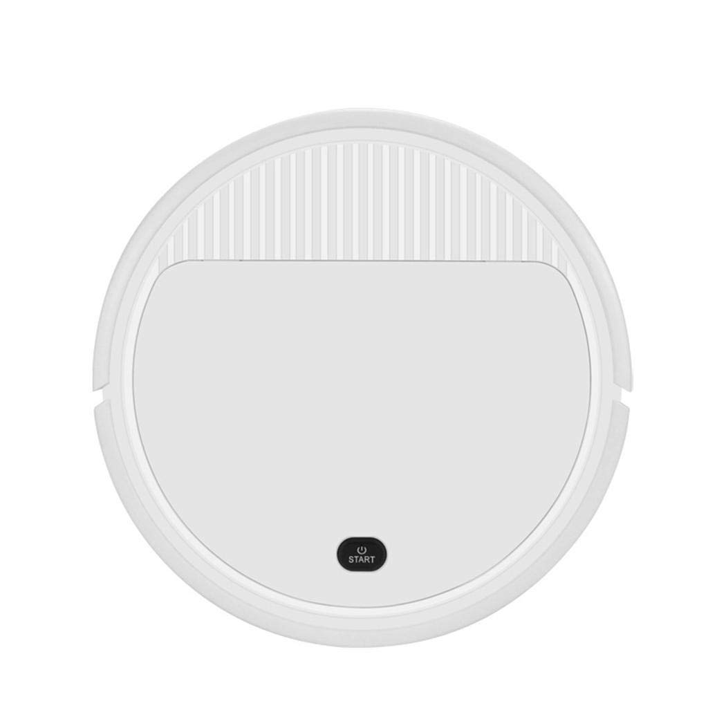 Rechargeable Smart Robot Vacuum Cleaner Automatic Sweeping Mopping Machine Robotic Vacuums (white2)
