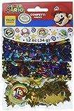Amscan Super Mario Brothers Birthday Confetti Mix Decoration Party Supplies , Multicolor, 12 Pieces