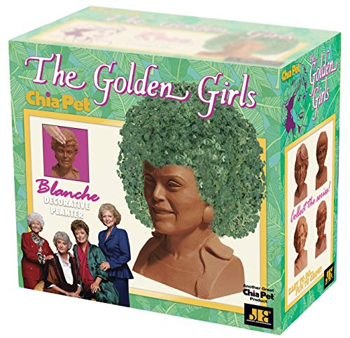 Chia Pet Golden Girls Blanche with Seed Pack, Decorative Pottery Planter, Easy to Do and Fun to Grow, Novelty Gift, Perfect for Any Occasion]()