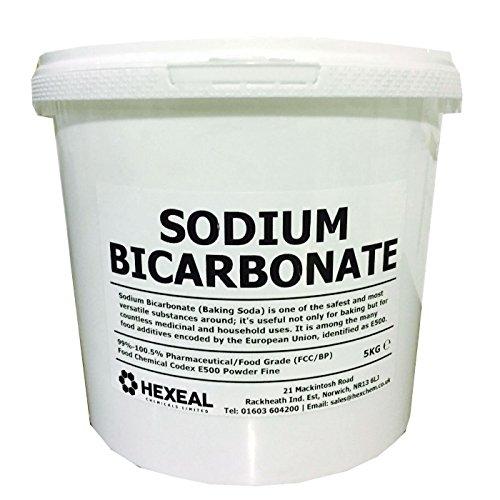 Hexeal SODIUM BICARBONATE of Soda | 5KG BUCKET | 100% BP/Food Grade