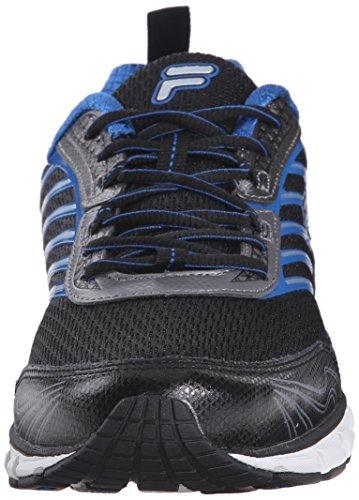 Fila de hombre adelante Running Shoe Black/Dark Silver/Prince Blue
