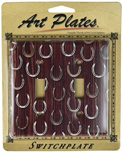 Art Plates - Horseshoes Switch Plate - Double -