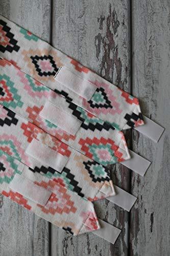 Mountain Horse Diamond Fleece - Polo Wraps/Stable Wraps, Set of 4 Bohemian Diamonds
