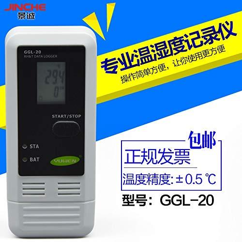 FINCOS GGL-20 Temperature Hygrometer, Recorder, Temperature Hygrometer, Electronic Cold Storage, Temperature Record, USB Connection, co