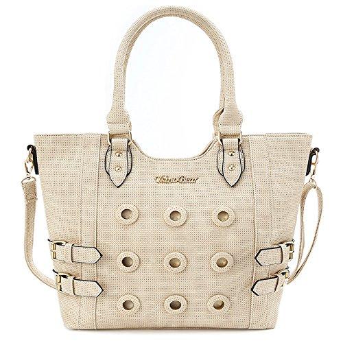 YsinoBear Handbags for Women Tote Handbags Ladies Hobo Handbags Large Capacity Shoulder Bag(Beige)