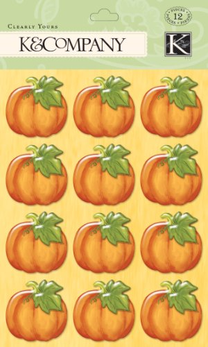K&Company Fall Pumpkin Clearly Yours Sticker