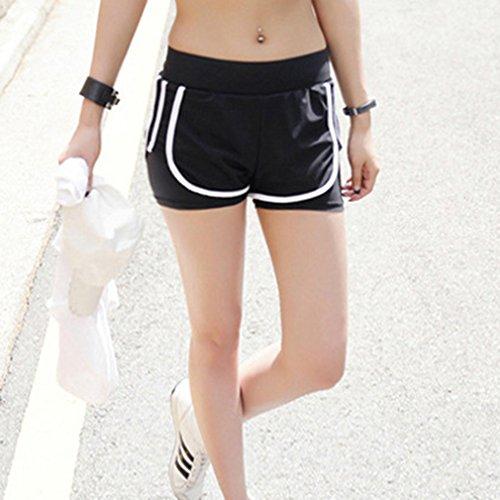 Sportivi Danza Pantaloni Sportivi Moda Rapida Pantaloncini Fitness Sexy Pantaloncini Pantaloncini Alta Pantaloncini Grigio Asciugatura Pantaloni Jogging Yoga Donna Poliestere Vita Estate Striscia qRwAxAUW4