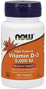 Now Vitamin D3 5000 IU - 120 Softgels