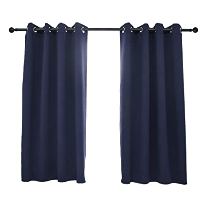 jiangjue curtains blackout window drapes for bedroom 2 panels short curtains for small windowliving - Short Curtains For Bedroom