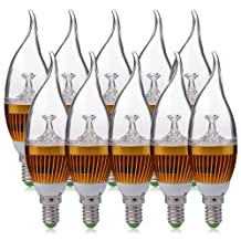 XCSOURCE® 10 x 3W E14 LED bulb light bulb candle bulb lamp Spot Bulb Lamp Light Energy Saving Lamp Warm White LD274B