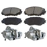 09 pontiac vibe caliper - Prime Choice Auto Parts PCD1210-BC30218PR Front Brake Calipers and Performance Brake Pads