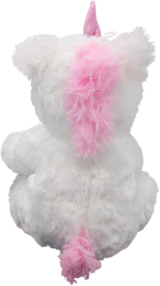 Luxe Kellytoy Baby 11 inch Unicorn with Rattle White K