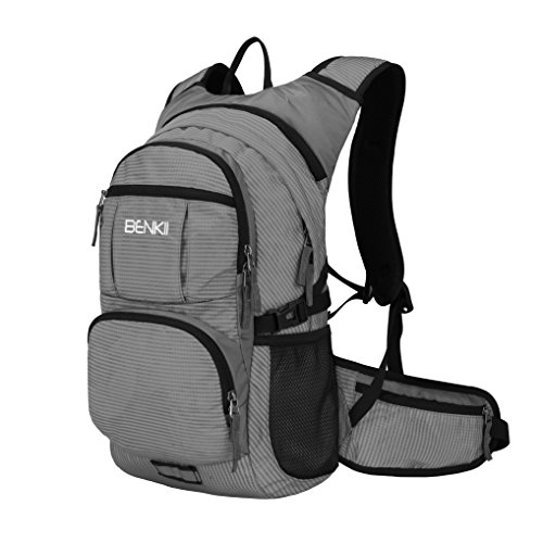 Cheap Insulated Hydration Backpack with 2L Water Bladder – Lightweight pack for Running Hiking Riding Camping Cycling Climbing Fits for Men & Women (Grey)