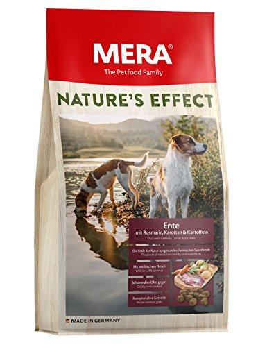 MERA NATURE'S EFFECT, Getreidefreies Hundefutter, Premium Trockenfutter für Hunde mit Ente, Rosmarin, Karotten und…