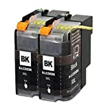 Aprobu Compatible Ink Cartridge for Brother LC20EBK LC20E BK XXL Super High Yield(Black,2-Pack) with MFC-J985DW MFC-J5920DW Printer