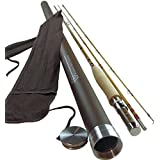 Bamboo Fly Rod | Deluxe Series By Headwaters Bamboo | 2-piece with Extra Tip | Classic Bamboo Fly Fishing Rod Handplaned of Tonkin Bamboo using Six-Strip Construction | Choose from Six Sizes