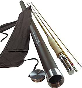 "Bamboo Fly Rod 6' 6"" 3-wt Medium Action 2-piece 2-tips 