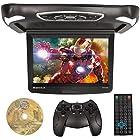 "Rockville RVD15BGB Black/Grey/Tan 15"" Flip Down Car Monitor w DVD/HDMI/Games/USB"