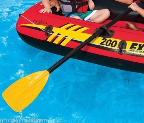 Intex 48'' Paddles Plastic Ribbed French Oars Set Inflatable Boat (2 Pairs)