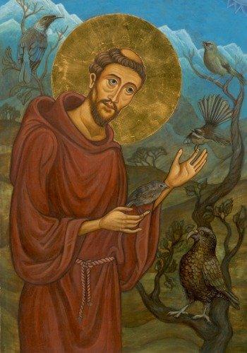 Saint Francis光沢ポスター写真印刷バナーSt Assisi Catholic 40