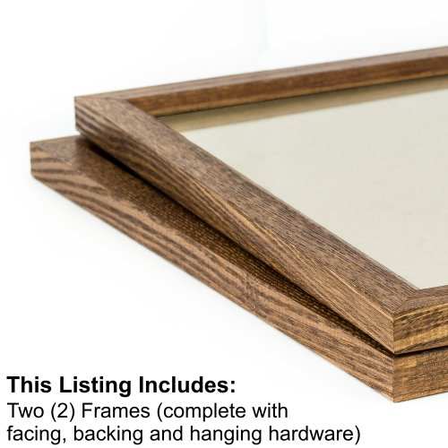 Craig Frames 8261610 24 by 36-Inch Picture Frame 2-Piece Set, Solid Wood, .84-Inch Wide, Honey Brown